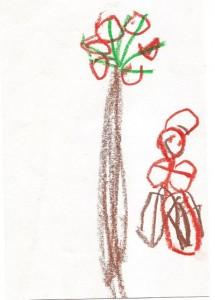 Pepperoni Palm Tree Child's Illustration